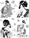 Asian Ladies Vol 4 Unmounted Rubber Stamp Sheet