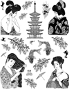 Asian Ladies Vol 5 Unmounted Rubber Stamp Sheet