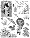 Asian Ladies Vol 6 Unmounted Rubber Stamp Sheet