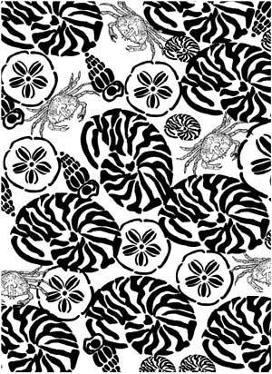 Sea Shells Background Unmounted Rubber Stamp