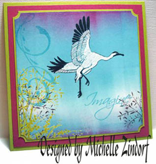 Heron card by Michelle Zindorf - August 2008