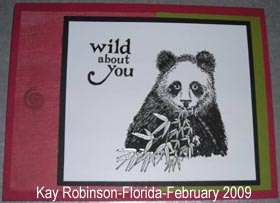 Wild about you panda card - Kay Robinson - February 2009