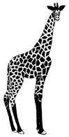 Giraffe 1 x 2 inch Unmounted Rubber Stamp