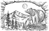 Bear Mountain 2-3/4 inch Unmounted Rubber Stamp