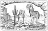 Coyote Desert Moon 5-1/2 inch Unmounted Rubber Stamp Kit