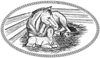 Horses Mare and Foal 5-1/2 inch Unmounted Rubber Stamp Kit