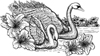 Swans 5-1/2 inch Unmounted Rubber Stamp Kit