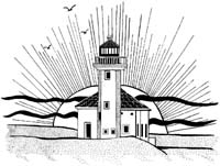 Cape Arago Lighthouse Unmounted Rubber Stamp