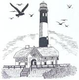 Fire Island Lighthouse Unmounted Rubber Stamp