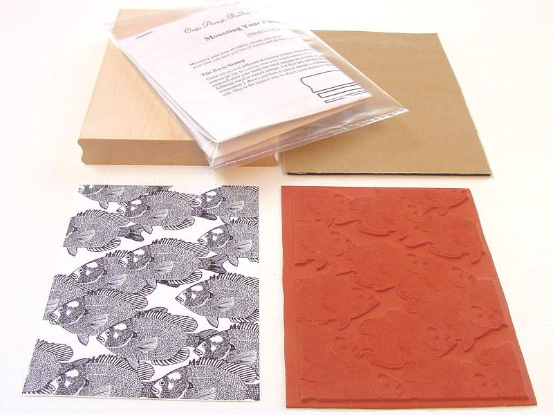 Small Fish Background Unmounted Rubber Stamp Kit