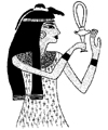 Egyptian Noblewoman with Ankh Little Stamper