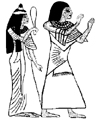 Egyptian Nobleman Hunefer and His Wife Little Stamper