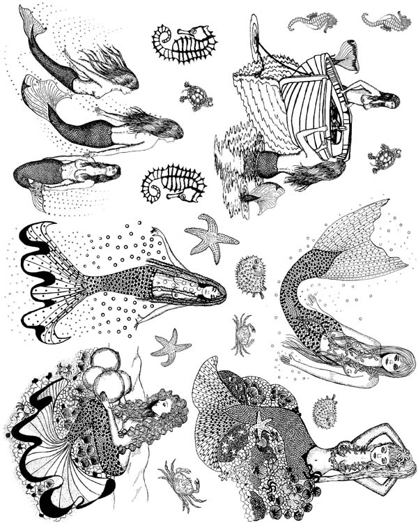 Mermaids Vol 2 Unmounted Rubber Stamps