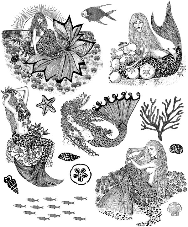 Mermaids Vol 3 Unmounted Rubber Stamps