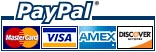 PayPal ordering is safe, fast & secure. We never see your credit card details or other financial information - PayPal does all the processing for us. You can also use your credit card without registering for a PayPal account. Going through the checkout is easy, and after payment you will be returned to our site automatically.