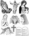 Christian Images Unmounted Rubber Stamp Sheet