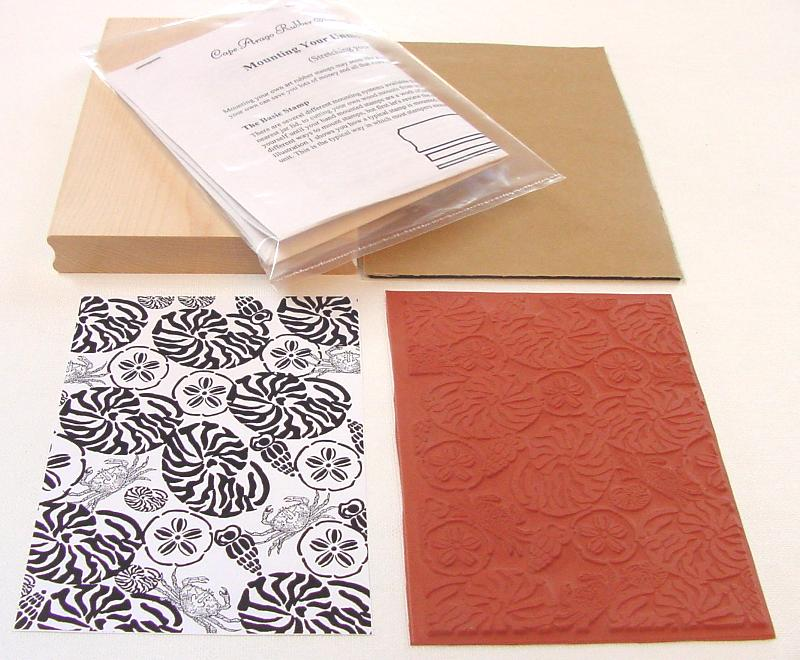 Sea Shells Background Unmounted Rubber Stamp Kit
