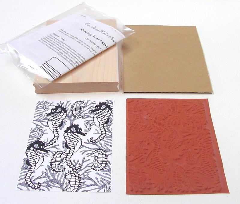Seahorses Background Unmounted Rubber Stamp Kit