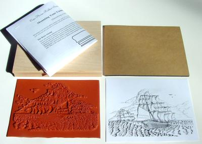 Two Tall Sailing Ships Unmounted Rubber Stamp Kit