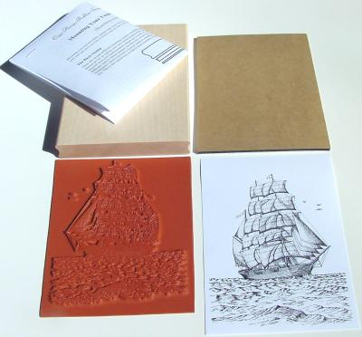 Tall Sailing Ship Unmounted Rubber Stamp Kit