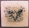 Eagle with an Attitude Wood Mounted Rubber Stamp