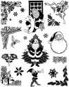 Christmas with Santa Unmounted Rubber Stamp Sheet