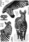 Zebras & Phrases Unmounted Rubber Stamp Sheet